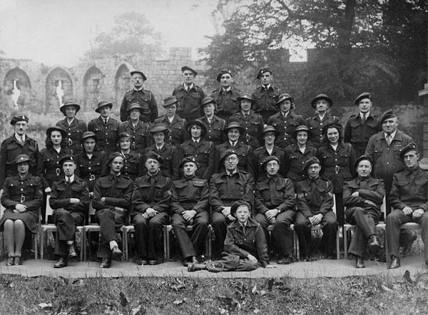 Members of the Civil Defence Force in York in the 1940s. Four members of the York Civil Defence were killed during the city's Baedeker Raid
