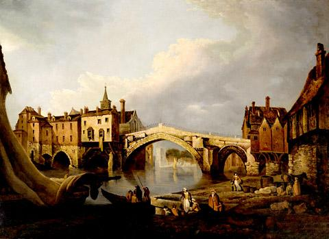 Old Ouse Bridge, York, 1784, by Joseph Farrington.  Oil on canvas. Picture: The Company of Merchant Adventurers of York