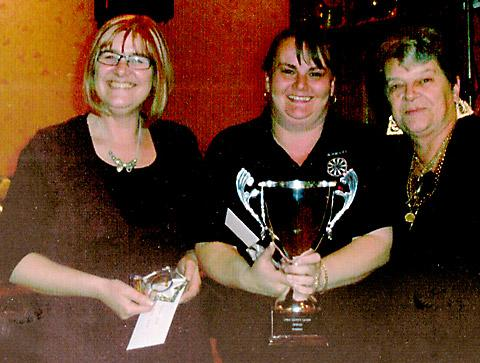 York John Smith's Ladies Darts League Triples winners, from left, Dawn Exton, Michelle Britton and Lynn Thompson