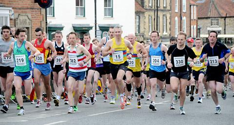 The start of the Kirkbymoorside 10k run