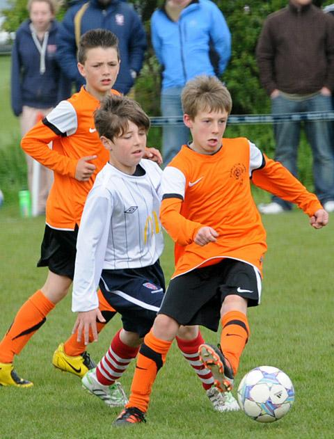 Goalscorer Joseph Allerton in action for Poppleton Tigers