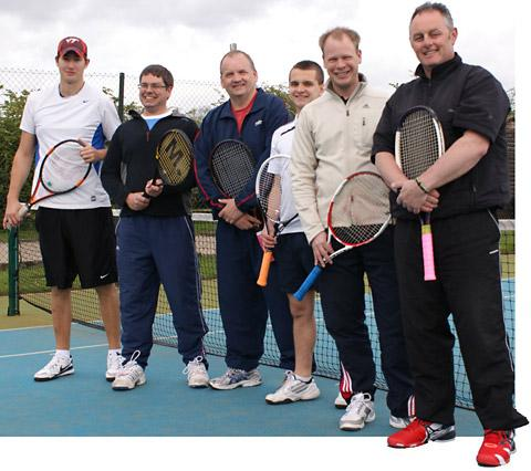 Starbeck 2, of division four in the Tyke Petroleum  Men's Tennis League, are, from left, Chris Noddings, Jeremy Reddish, Kevin Lodge, Tom Hendry, captain Steve Hubbard and Grant Dorward