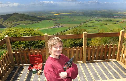 Major Elspeth De Montes getting in some work experience at Sutton Bank