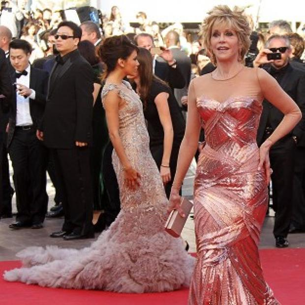 Jane Fonda and Eva Longoria attended the premiere of Moonrise Kingdom