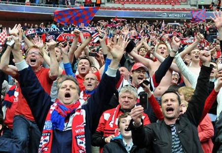 York City fans at Wembley