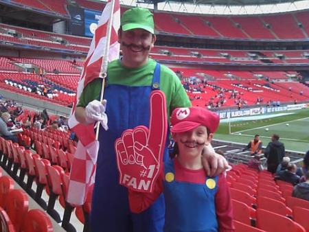Super Mario and Luigi, Scot Leighton-Miles and Geoff Miles of Fulford