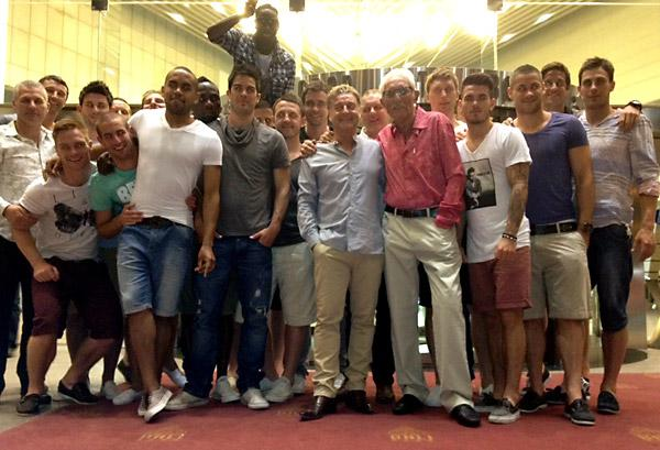 York City's players, management, staff  and directors in Benidorm