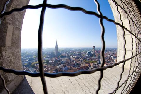 Dramatic view over Bruges