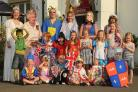 Members of Heslington Pre-school  group are pictured in fancy dress outside the Black Bull, in Hull Road,  during their Diamond Jubilee event