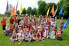 Pupils from Poppleton Ousebank Primary School enjoy their Jubilee celebrations