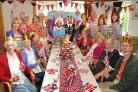 Patients and staff at St Leonard's Hospice Daycare centre enjoy their Jubilee party