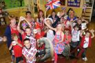 Pupils and staff from Poppleton Road Primary School enjoy their jubilee party