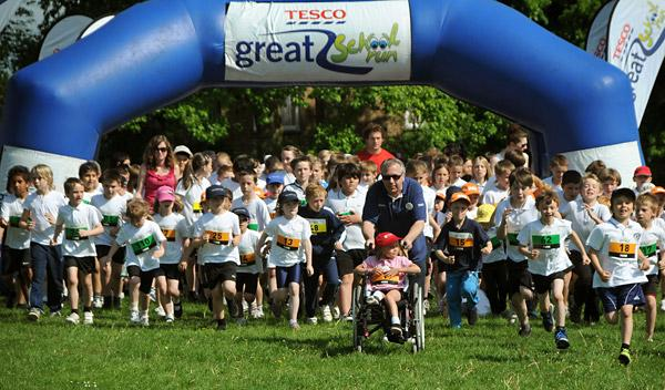 Primary pupils join Great School Fun Run