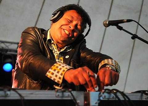 Television celebrity Craig Charles does a spot of DJ-ing at the InsideOut music festival