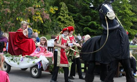 A Royal procession at Burnby Hall and Gardens, Pocklington