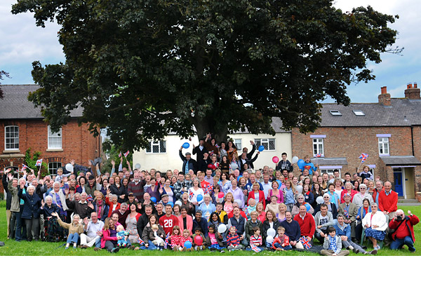 Village turns out for Jubilee photograph