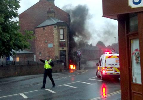 Electrical fire in Fishergate at 5am this morning.Pic by Press reader John Kennedy.