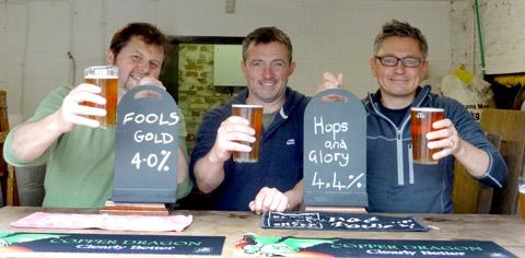 Four Thorns Brewery, from left: Fraser Neasham, Rob Franklin and Pete Atkinson
