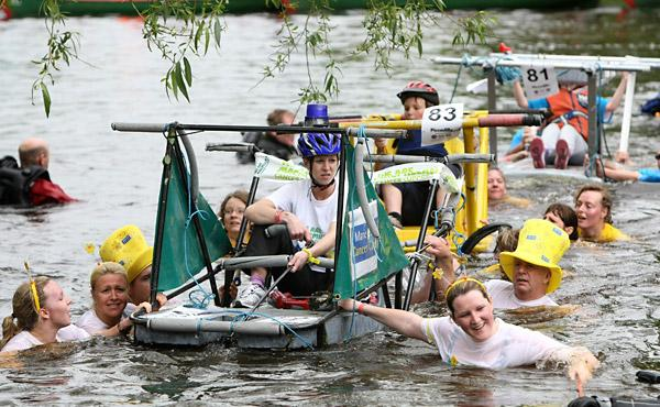 Teams take part in the 47th Knaresborough Bed Race. Picture: Tom Banks