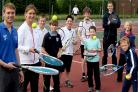 Robin Lavin, York Council's Young People's Activity Officer, who is organising Club Open Days for youngsters at Fulford Tennis Club, with coach Joanne Middleton, and youngsters from the club