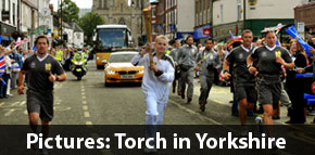 York Press: Olympic Torch in Yorkshire pictures