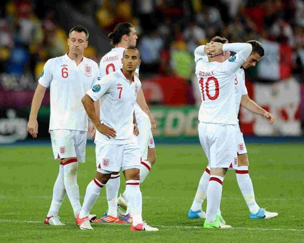 England crash out  of Euro 2012