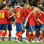 York Press: Goals from David Silva (right), Jordi Alba (second left), Fernando Torres and Juan Mata won Euro 2012 for Spain