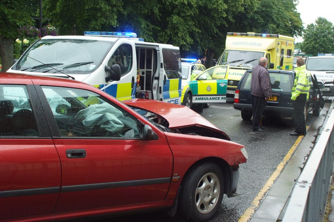 Car Crash Blocks Selby Road York Press