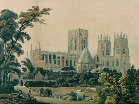 York Minster from the North East, by Henry Cave. York Museums Trust (York Art Gallery)