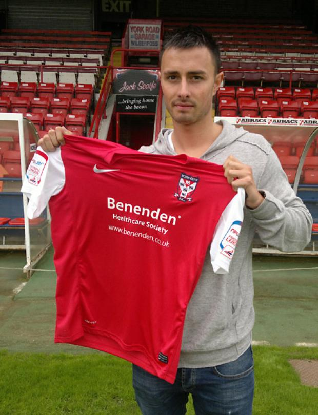 Danny Blanchett is York City's fifth new signing of the summer
