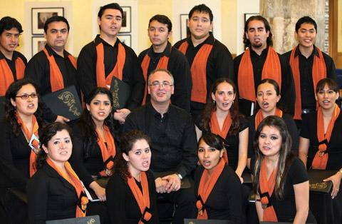 The Bolivian choir