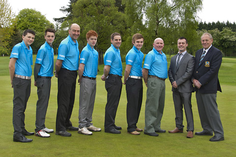 Pictured sporting their new polo shirts are Pike Hills' junior golf team