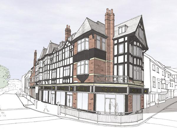 An artist's impression of how the White Swan could look after its facelift