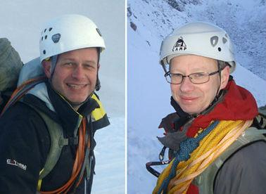Steve Barber, 47, and John Taylor, 48, both of Poppleton, York, who died in the Alps