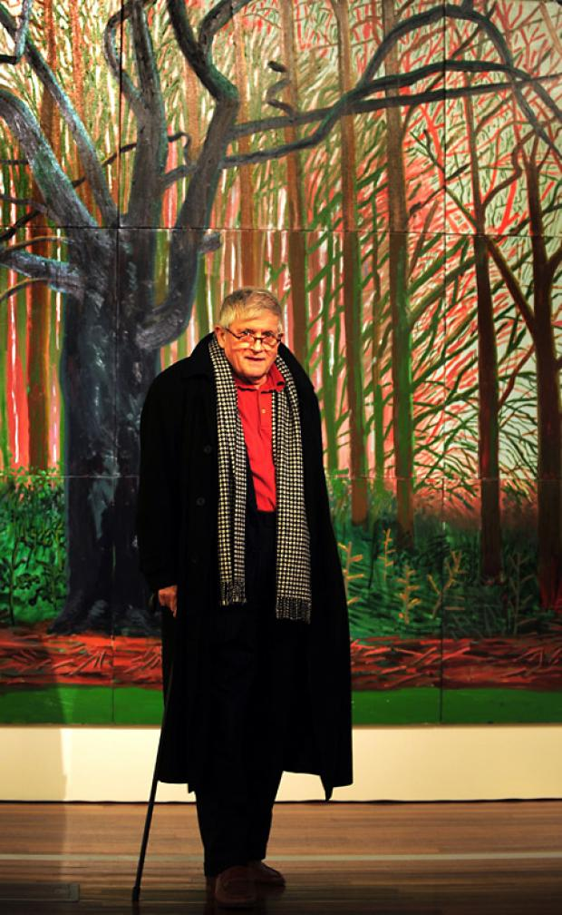 David Hockney, one of the most famous British artists of his     generation, who  owns the house where Dominic was found unwell