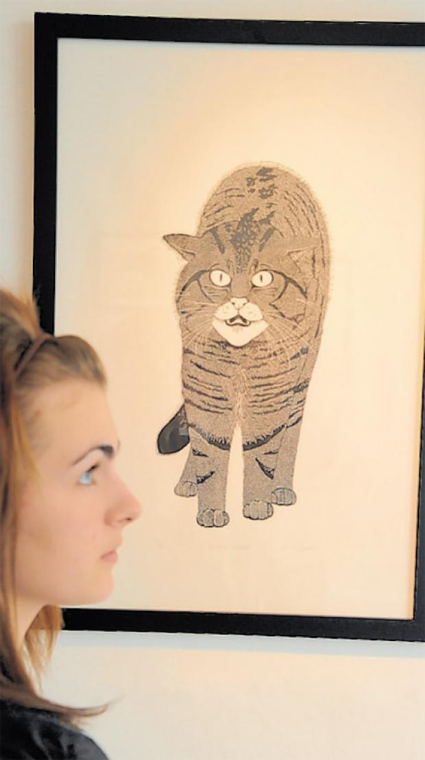Olivia Streatfeild-James with her Scottish Wildcat drawing