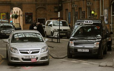 Cabs waiting at York Station last year. A York hackney  drivers' spokesman says the city's ranks are already full