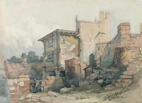 Views of York 16: Inside Walmgate Bar, c 1840, by John Harper, a Watercolour, reproduced courtesy of York Museums Trust (York Art Gallery).