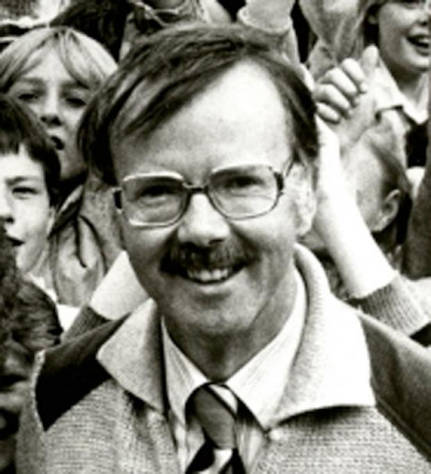 Ronald Binns on his retirement in 1983