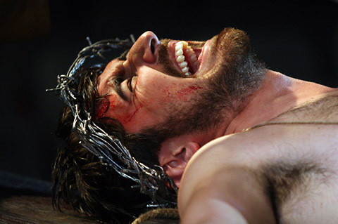Ferdinand Kingsley as Christ in a scene from the Mystery Plays