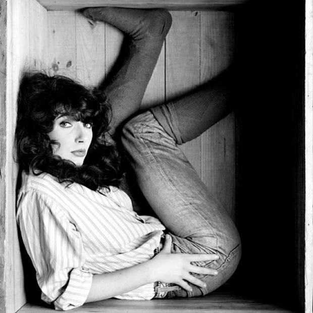 Gered Mankowitz's photograph of a boxed Kate Bush
