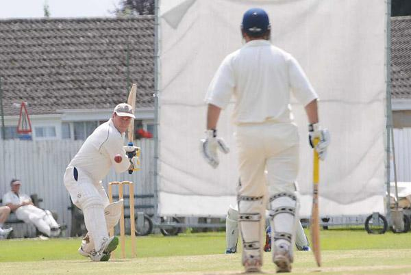 Pickering batsman Dave Greenlay is pictured on his way to a club record unbeaten 185