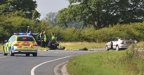 The scene at the A19 collision