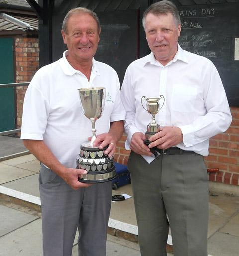 Lord Mayor's Cup winner John Cooper, left, with runner-up Peter Durkin