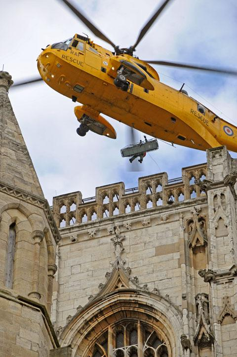 Sea King rescue exercise at York Minster