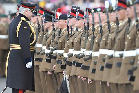 General Sir Peter Wall inspects the ranks