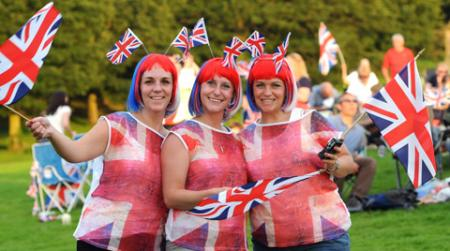 (From left) Sophie,Amy and Lucy Gray at the Castle Howard Proms Spectacular