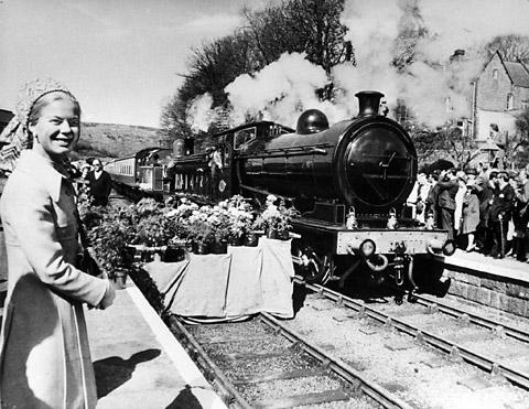 The Duchess of Kent opens the Grosmont to Pickering section of the North Yorkshire Moors Railway in May, 1973