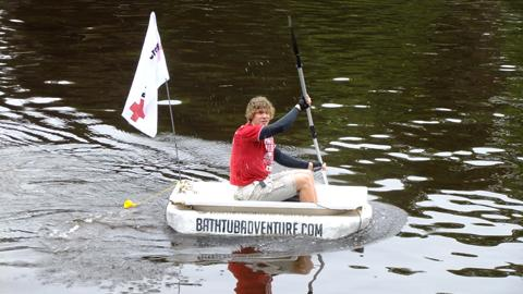 Luke Parry to paddle 200 miles in tub to London | York Press