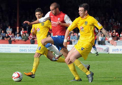 York City's Matty Blair, centre, could make his first start of the season tonight